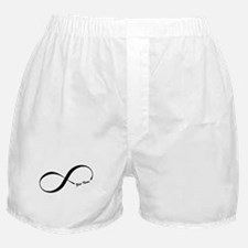 Infinity Word CUSTOM TEXT Boxer Shorts