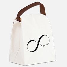 Infinity Word CUSTOM TEXT Canvas Lunch Bag