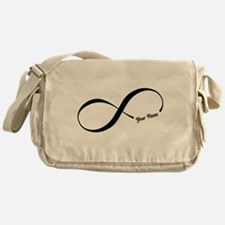 Infinity Word CUSTOM TEXT Messenger Bag