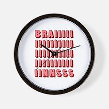'Zombie Brains' Wall Clock