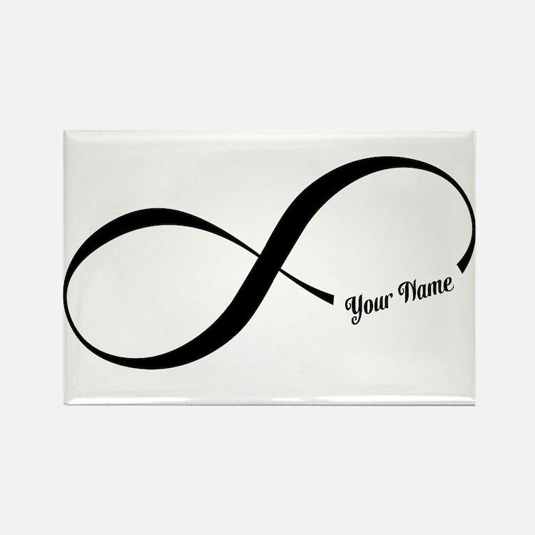 Infinity Word CUSTOM TEXT Magnets