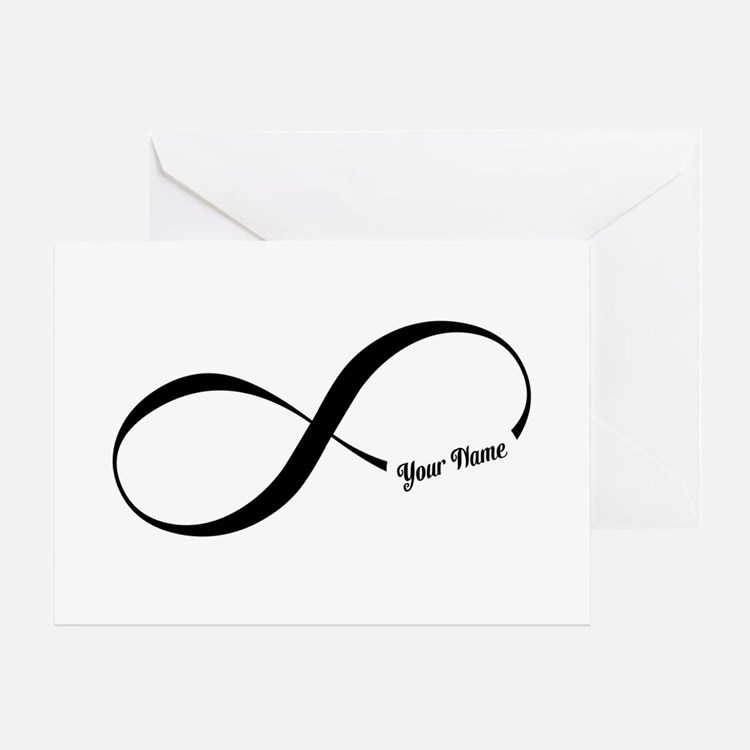 Infinity Word CUSTOM TEXT Greeting Cards