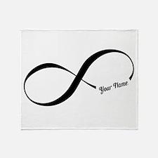 Infinity Word CUSTOM TEXT Throw Blanket