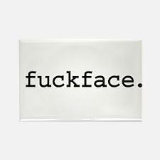 fuckface. Rectangle Magnet