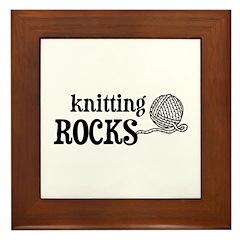 Knitting Rocks Framed Tile