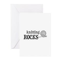 Knitting Rocks Greeting Cards (Pk of 10)