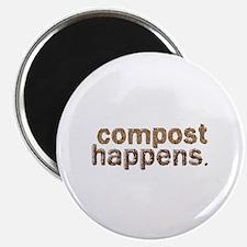 """Compost Happens 2.25"""" Magnet (100 pack)"""