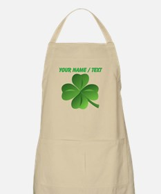 Custom Green Shamrock Apron