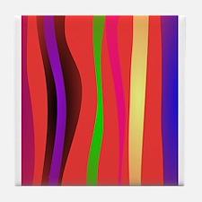 Stripes Art Tile Coaster