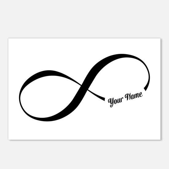 Infinity Word CUSTOM TEXT Postcards (Package of 8)