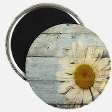 blue barnwood daisy Magnet