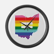 Ohio equality Large Wall Clock