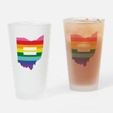 Ohio equality Drinking Glass