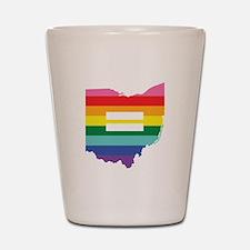 Ohio equality Shot Glass