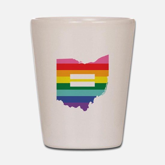 Ohio equality Shot Glass
