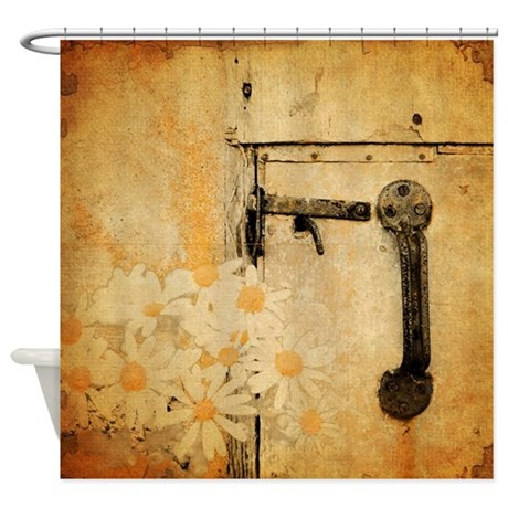 rustic country daisy Shower Curtain