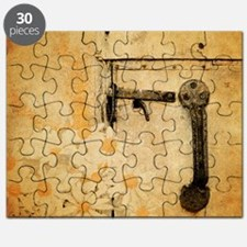 rustic country daisy Puzzle