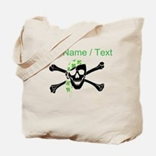 Custom Irish Pirate Skull And Crossbones Tote Bag