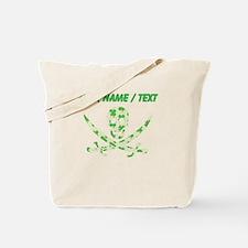 Custom Irish Pirate Calico Jack Skull Tote Bag