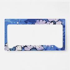 Purple Daisies on Blue - Marc License Plate Holder