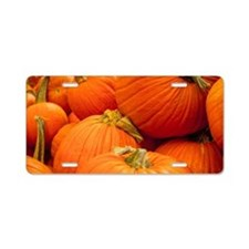Pumpkin Passion Aluminum License Plate