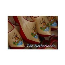 Wooden Clogs - Netherlands Rectangle Magnet