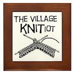 The Village KNITiot Framed Tile