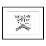 The Village KNITiot Large Framed Print