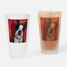 Ruthie the Boston Terrier Drinking Glass