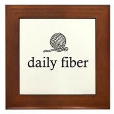 Daily Fiber - Yarn Ball Framed Tile