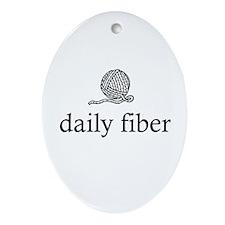Daily Fiber - Yarn Ball Oval Ornament
