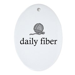 Daily Fiber - Yarn Ball Oval Ornament