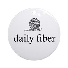 Daily Fiber - Yarn Ball Ornament (Round)