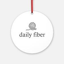 Daily Fiber - Yarn Ball Ornament (Round)