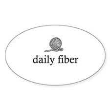Daily Fiber - Yarn Ball Oval Decal