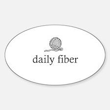 Daily Fiber - Yarn Ball Oval Decal