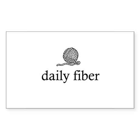 Daily Fiber - Yarn Ball Rectangle Sticker