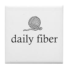 Daily Fiber - Yarn Ball Tile Coaster