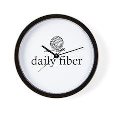 Daily Fiber - Yarn Ball Wall Clock