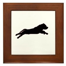 Unique Staffie dog Framed Tile