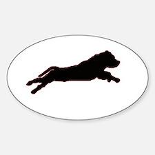 Cute Staffordshire bull terrier Sticker (Oval)