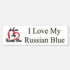 I Love My Russian Blue Bumper Bumper Bumper Sticker