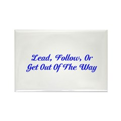 Lead or Follow Inspire Magnet