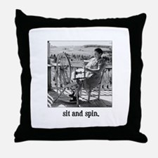 Sit and Spin - Yarn Spinner Throw Pillow