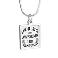 World's Most Awesome Leo Silver Square Necklace