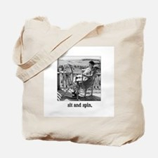 Sit and Spin - Yarn Spinner Tote Bag