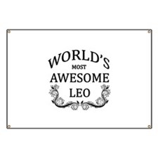 World's Most Awesome Leo Banner