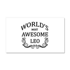 World's Most Awesome Leo Car Magnet 20 x 12