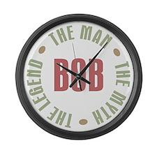 Bob The Man The Myth The Legend Large Wall Clock