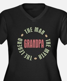 Grandpa The  Women's Plus Size Dark V-Neck T-Shirt